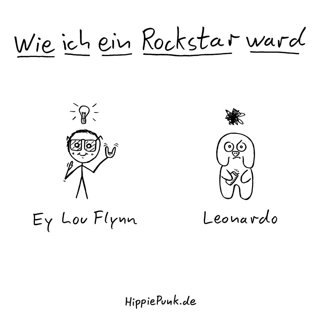 Wie Ich Ein Rockstar Ward | Ey Lou Flynn | HippiePunk!